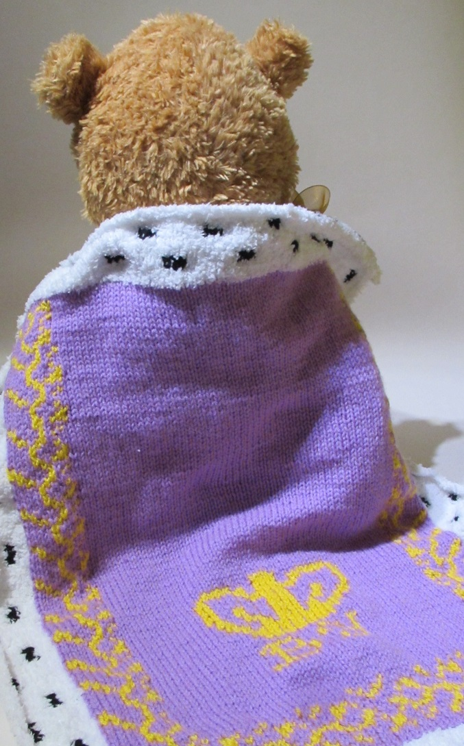 Baby's Royal Pram Blanket knitting pattern