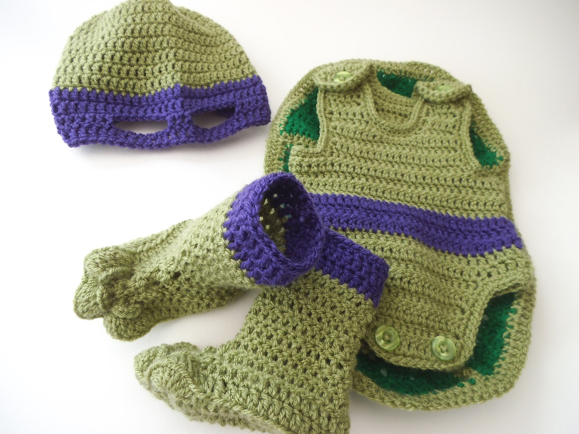 Free Crochet Teenage Mutant Ninja Turtle Pattern : Teenage Mutant Ninja Turtle Baby Outfit crochet pattern ...