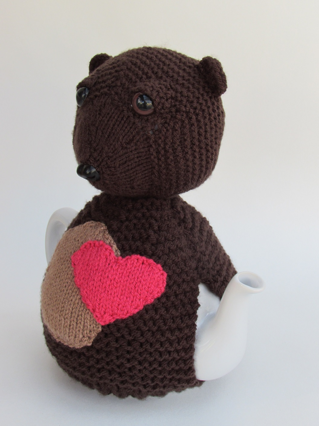 Bear Heart knitting pattern