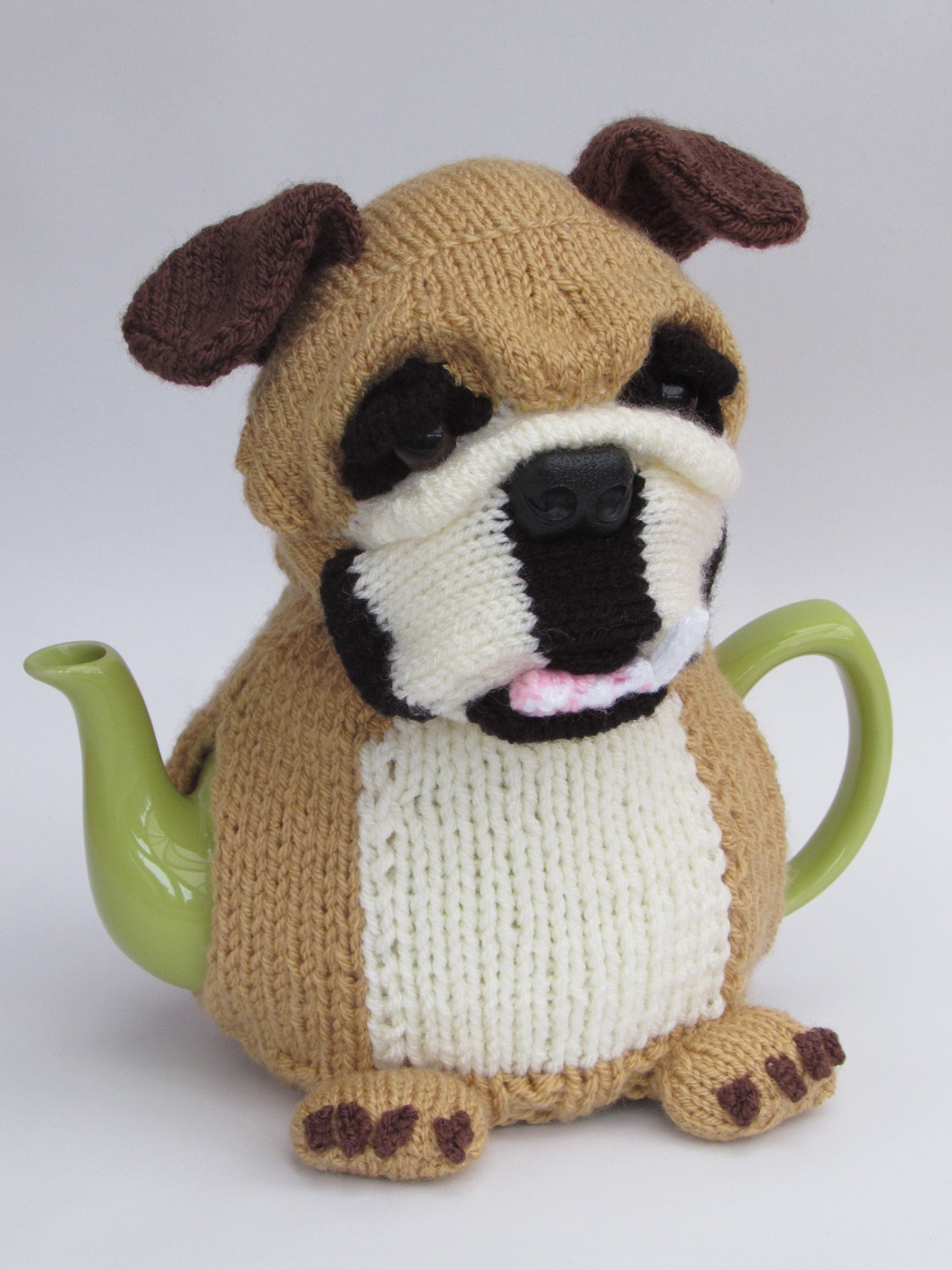 British Bulldog tea cosy knitting pattern