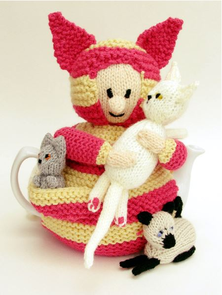 Cat Lady Knitting : Tea cosy knitting patterns from folk learn how