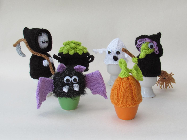 Halloween Egg Cosies knitting pattern