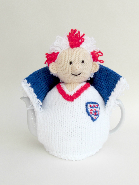 England Football Crazy tea cosy knitting pattern