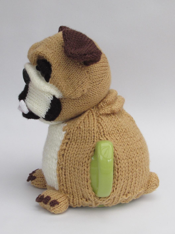 British Knitting Patterns : British Bulldog tea cosy knitting pattern