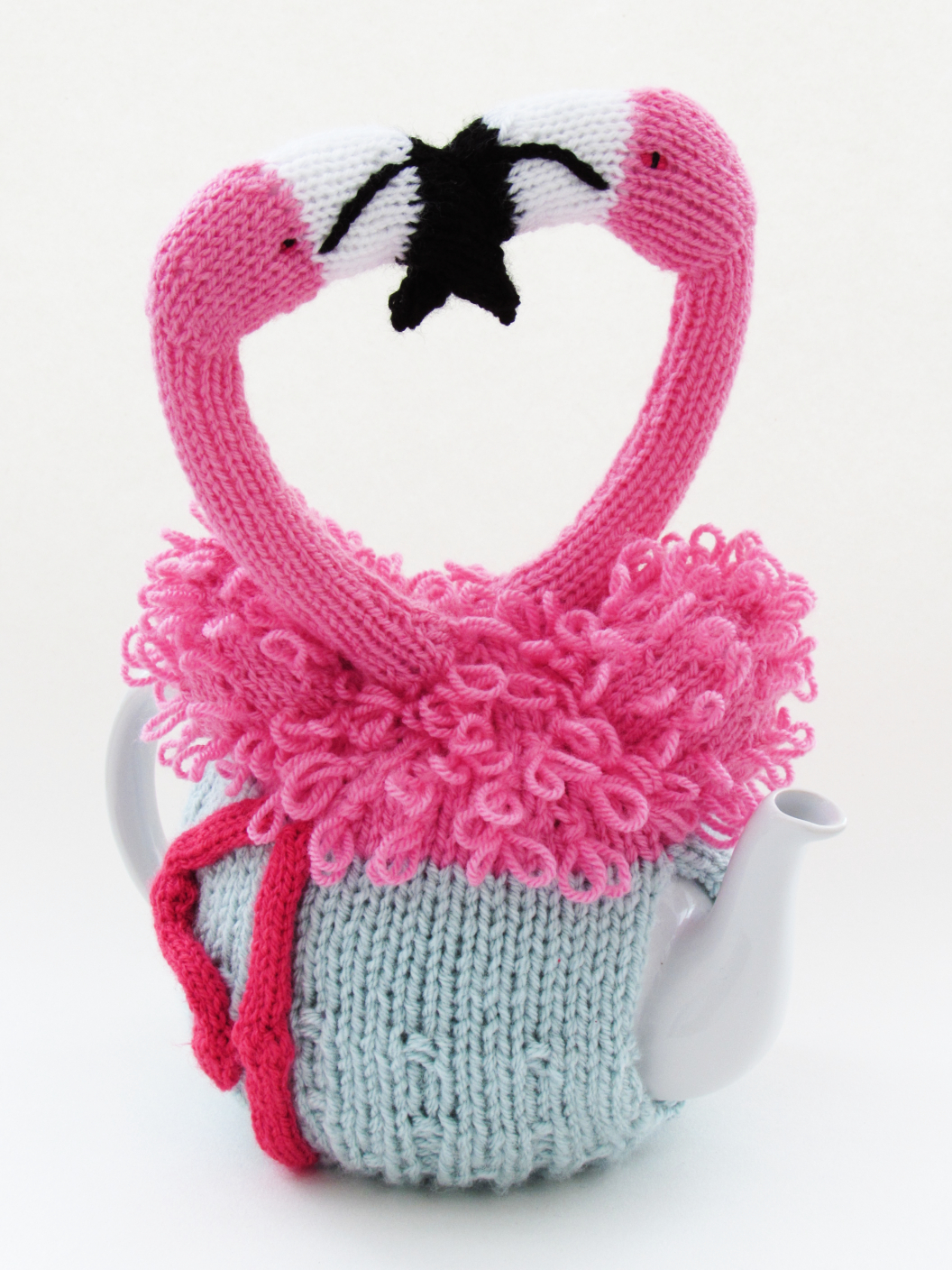 Flamingo tea cosy