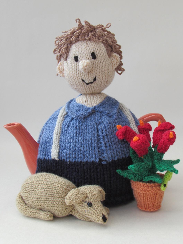 Gardener tea cosy knitting pattern