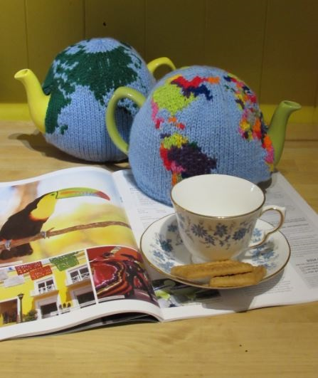 Globe and World Tea Cosies