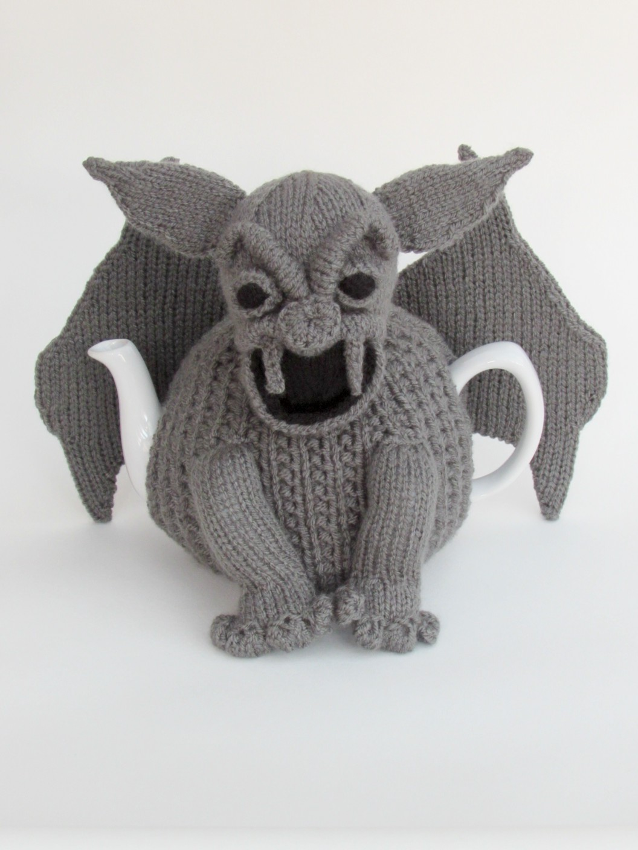 Gargoyle tea cosy knitting pattern