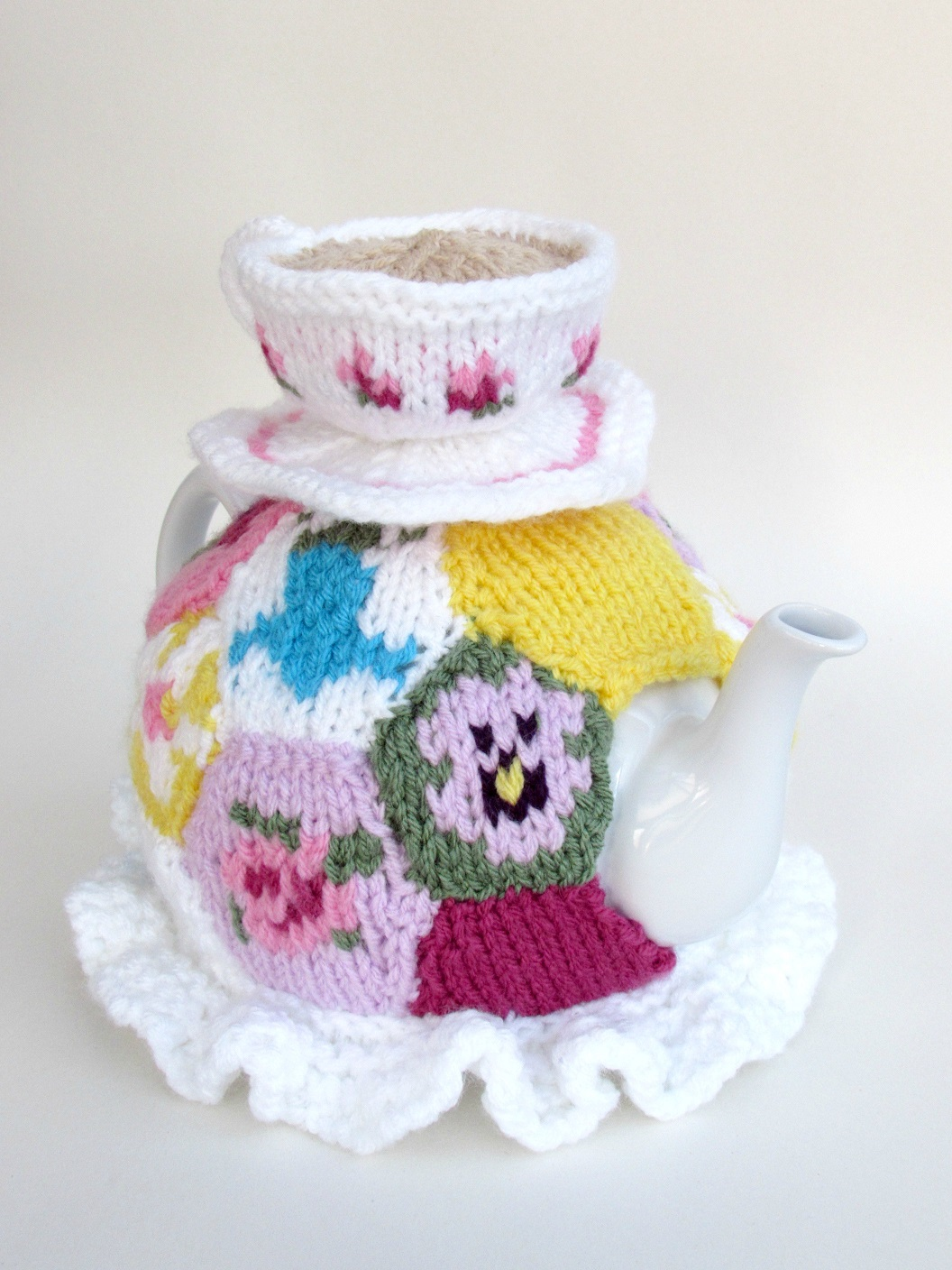 Granny Patchwork knitting pattern