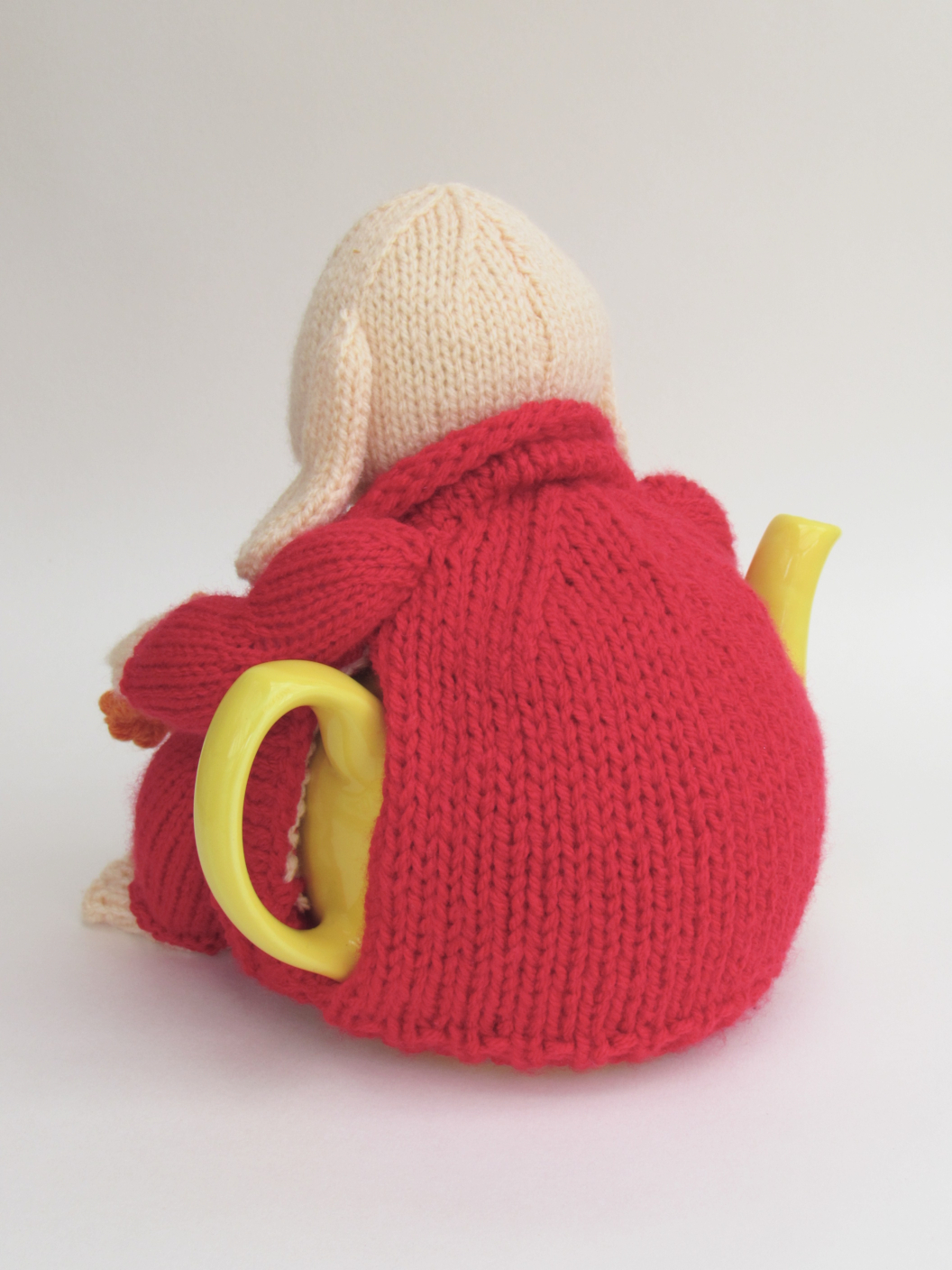 Laughing Happy Buddha tea cosy Knitting Pattern to knit your own Happy Buddha