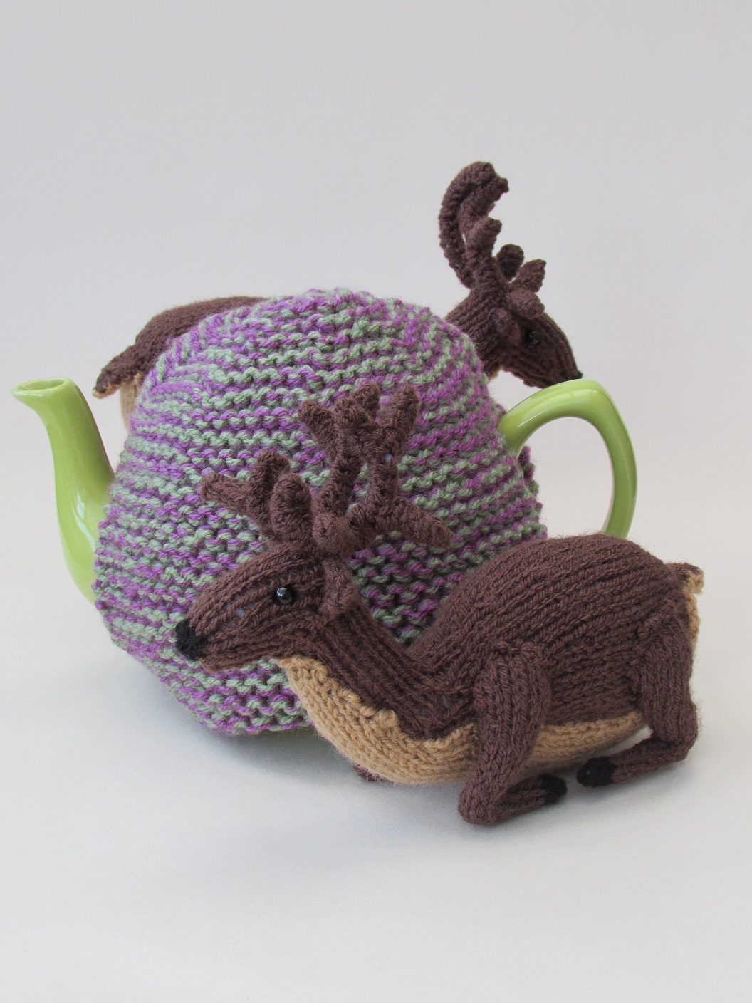 Deer in the Heather tea cosy