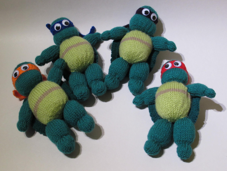 Knitting Pattern For Teenage Mutant Ninja Turtles : Teenage Mutant Ninja Turtles Action Figures knitting pattern for sale from Te...