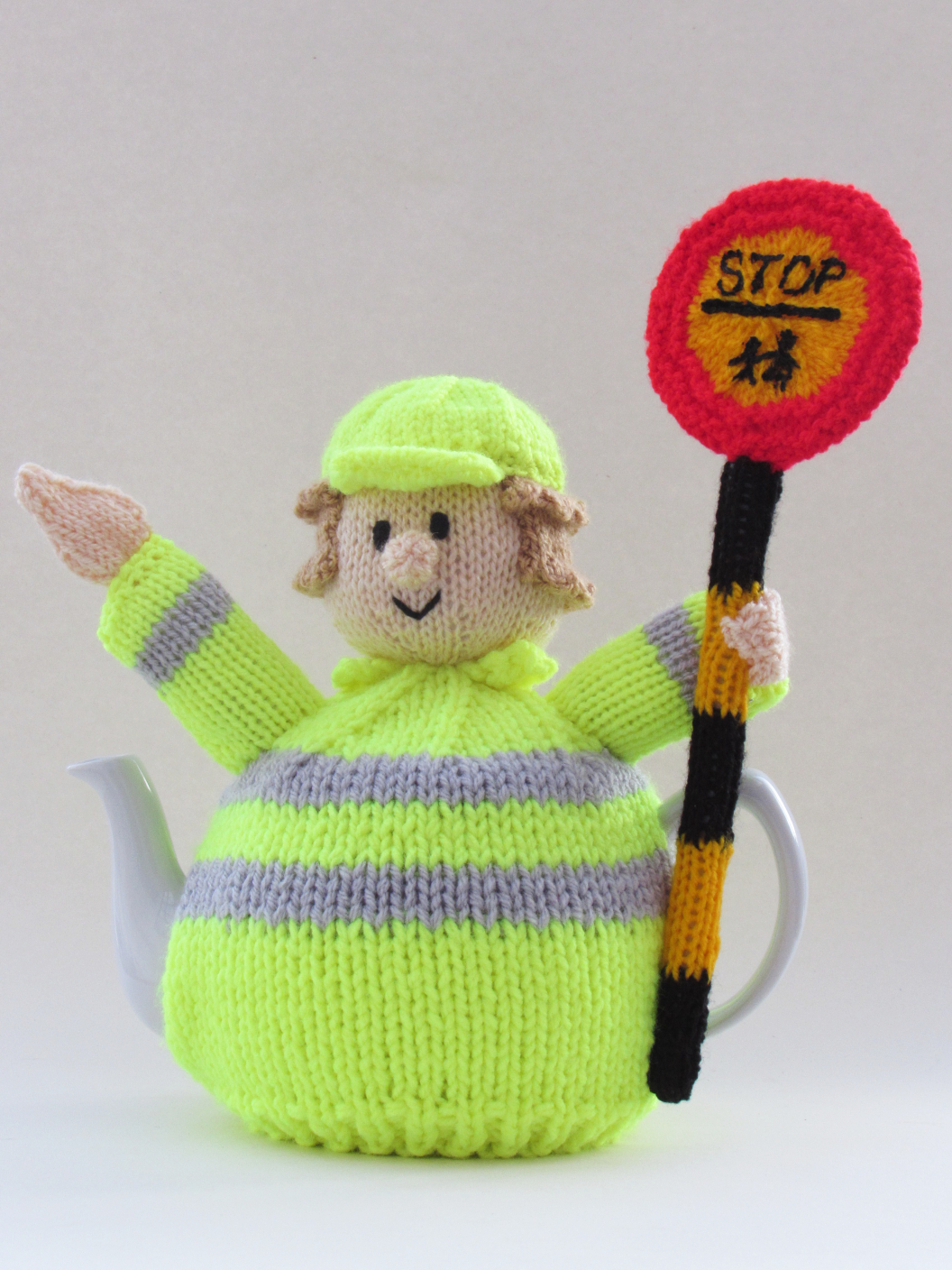 Lollipop Lady tea cosy