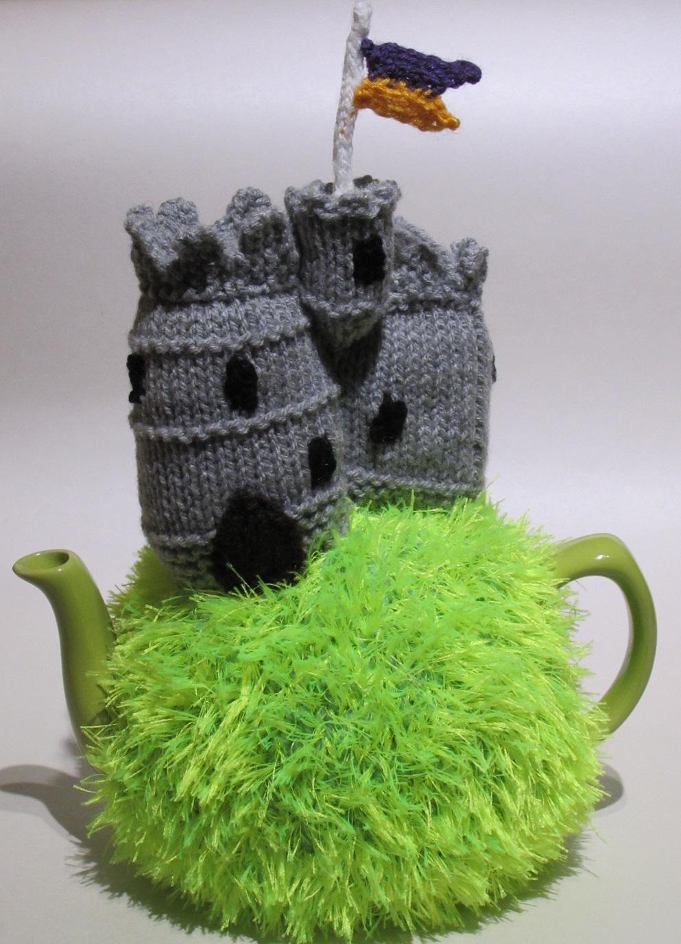 tea cosy template - unicorn tea cosy knitting pattern