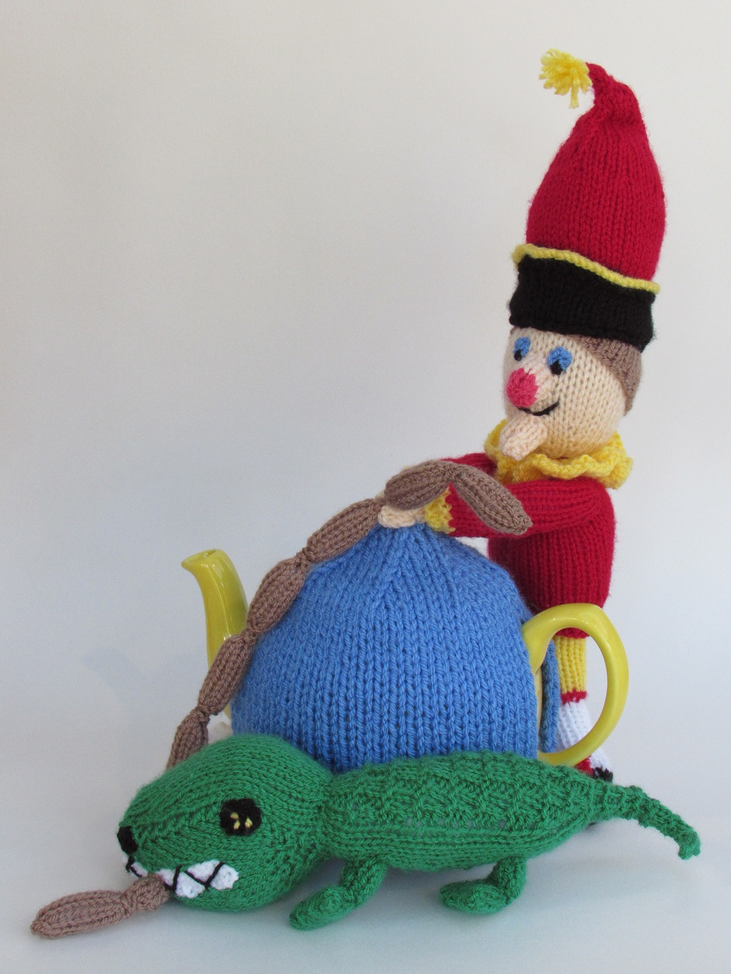 Mr Punch tea cosy