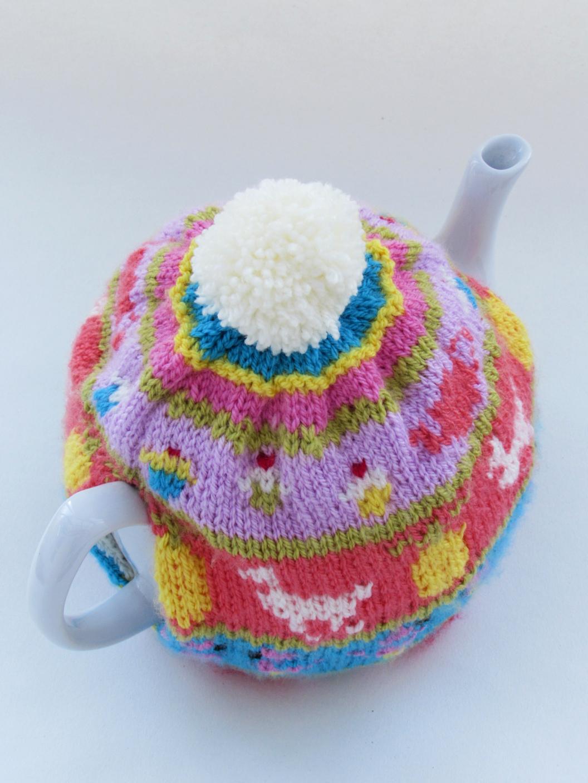 My Favourite Things Fair Isle tea cosy knitting pattern