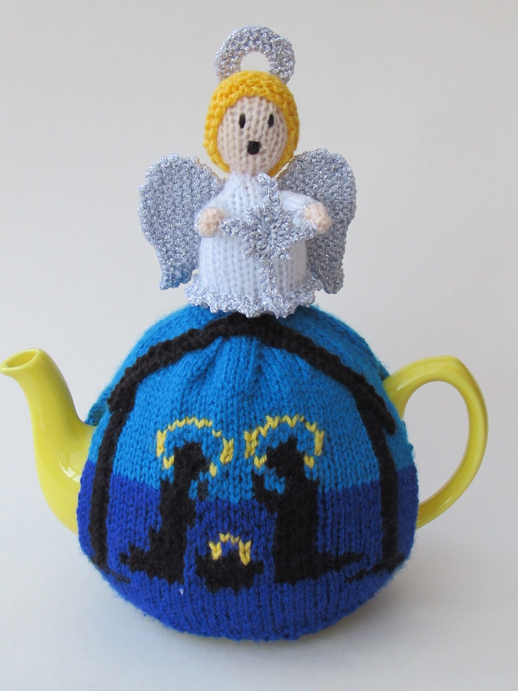 Holy Night Nativity tea cosy