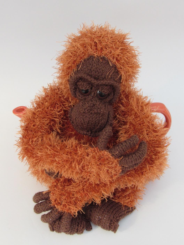 orangutan tea cosy knitting pattern