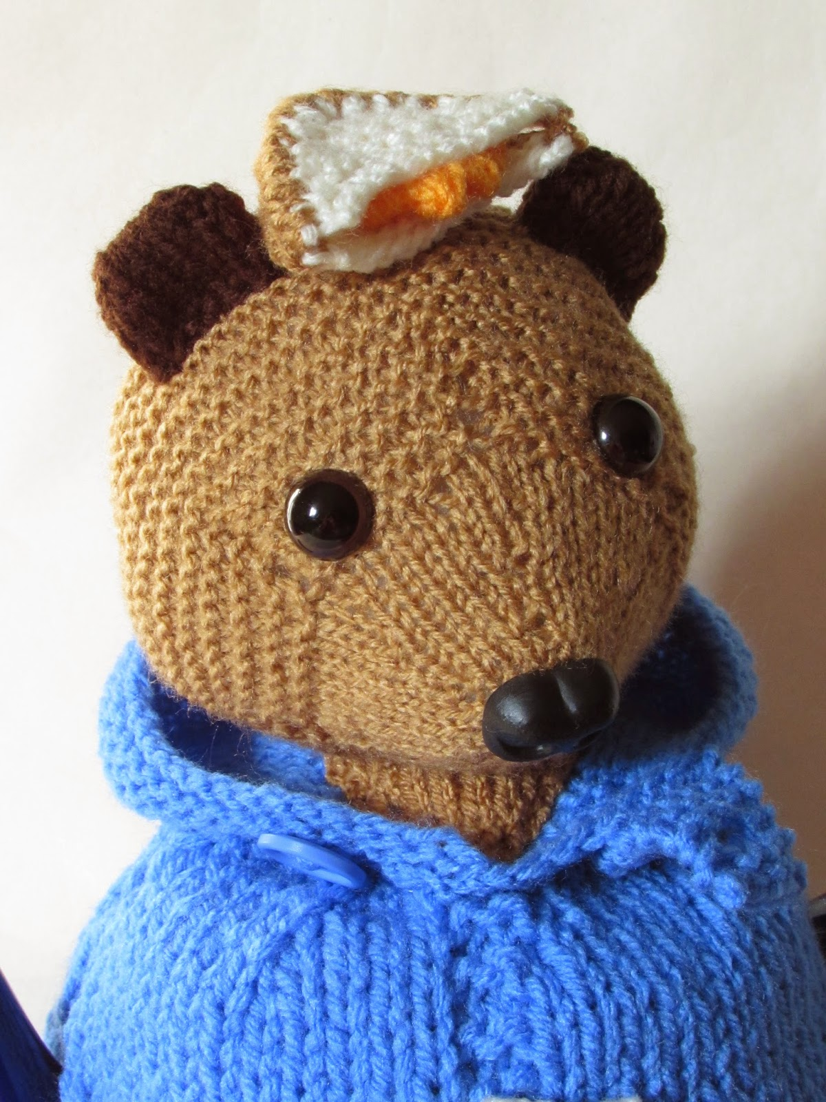 Paddington Bear tea cosy knitting pattern for sale from TeaCosyFolk