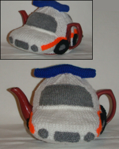 Jam Sandwich Police Car tea cosy
