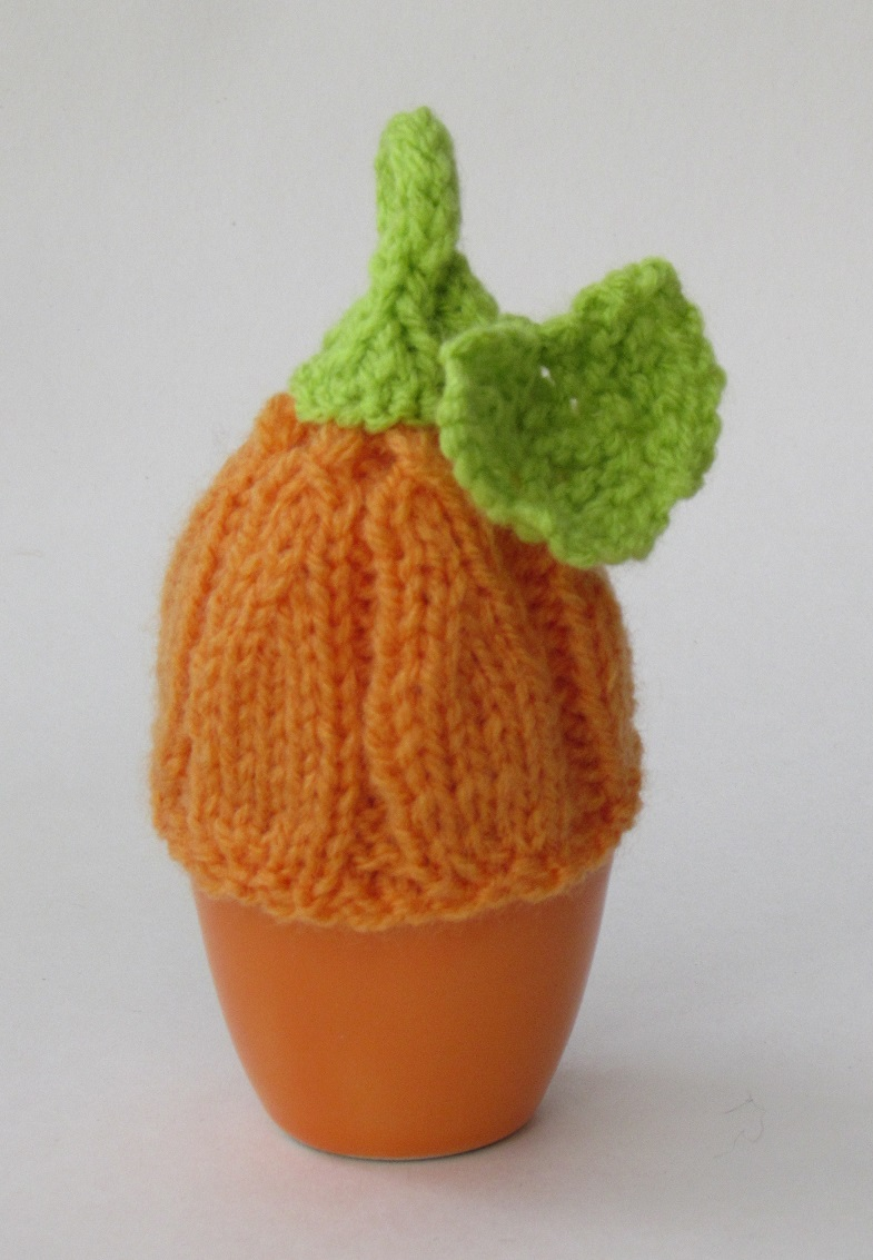 Halloween Egg Cosies knitting pattern
