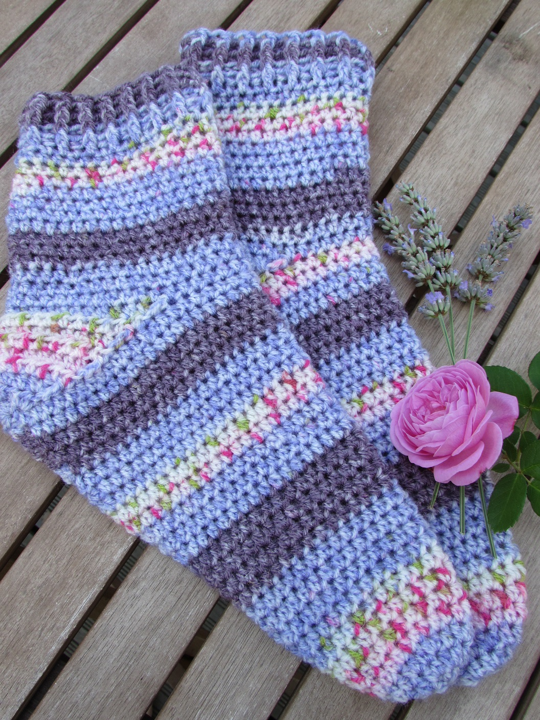 Quick & Easy Toe Up Sock Crochet Pattern