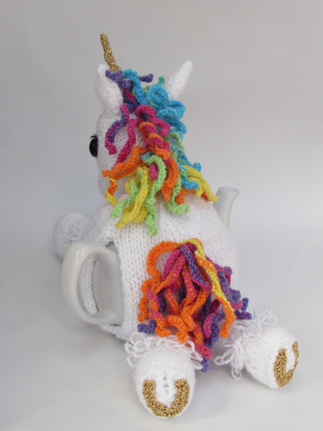 Rainbow Unicorn Knitting Pattern : Unicorn tea cosy knitting pattern