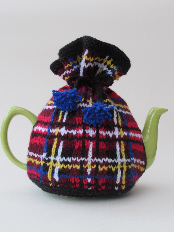 Stewart Tartan Tea Cosy Knitting Pattern