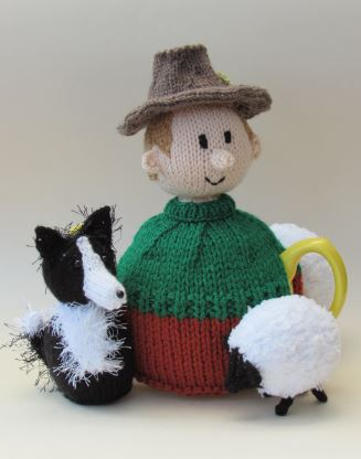 Sheep Farmer Tea Cosy Knitting Pattern