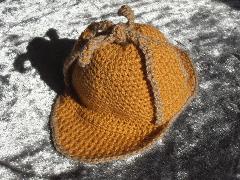 Crochet Deerstalker Hat Pattern : Baby Sherlock Holmes Style Deerstalker Hat crochet pattern