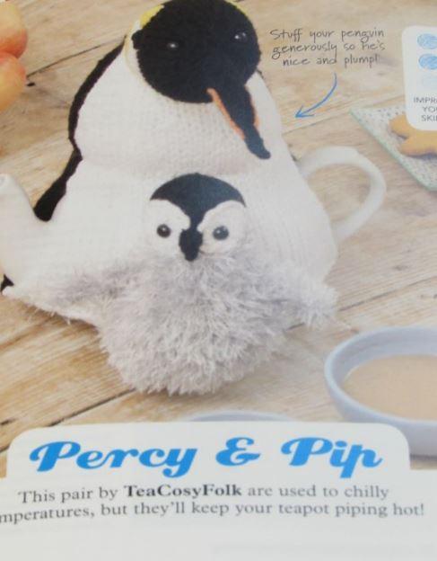Emperor Penguin Duo tea cosy knitting pattern
