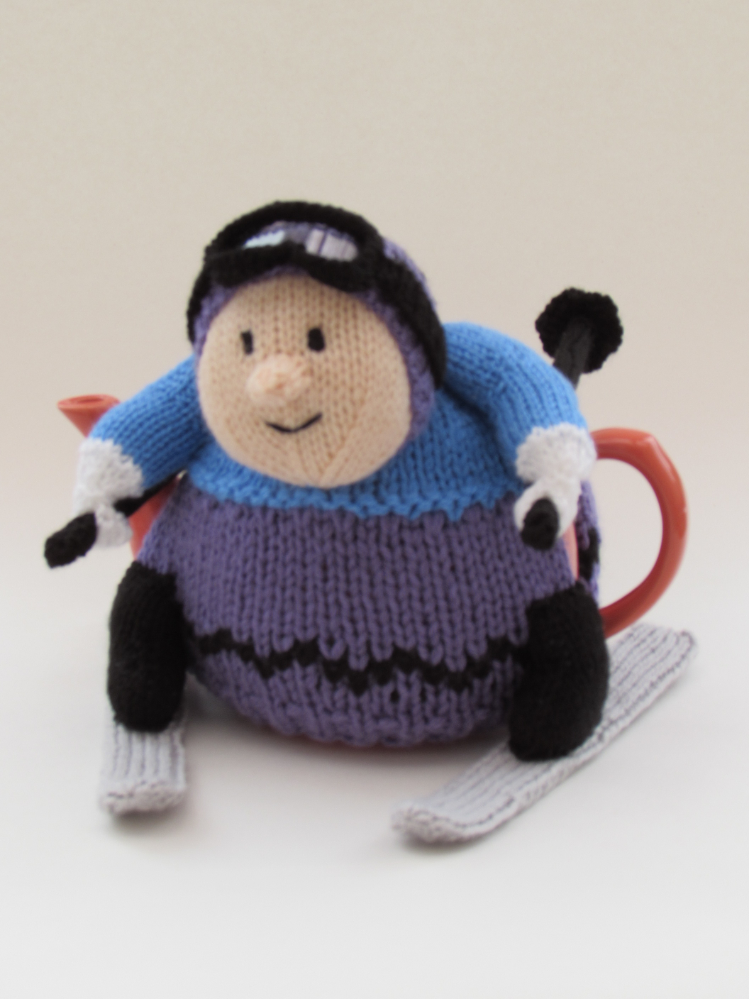 Skier knitting pattern