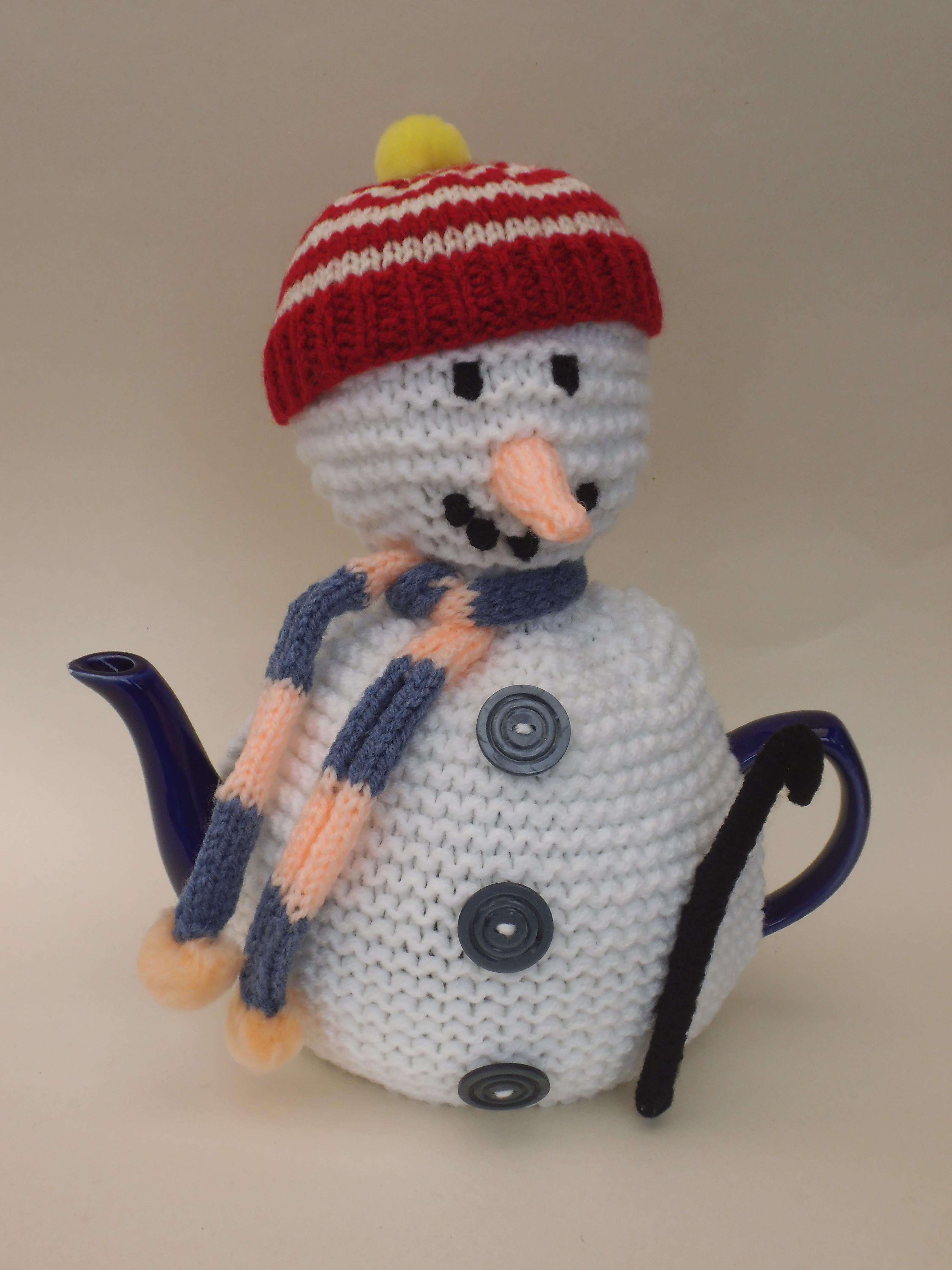 Snowman tea cosy knitting pattern