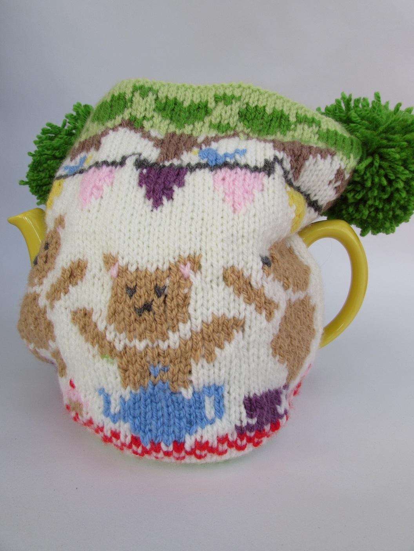 Teddy Teatime tea cosy knitting pattern