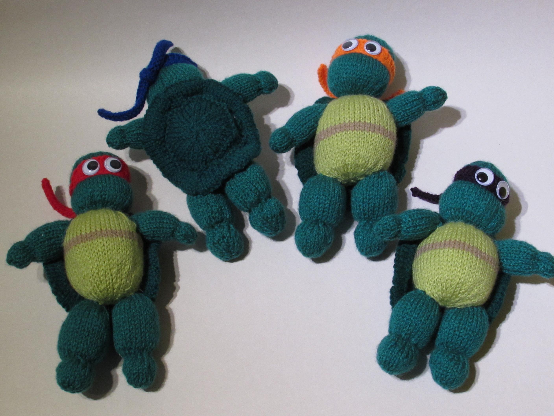 Teenage Mutant Ninja Turtles Action Figures knitting pattern for sale from Te...